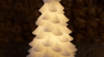 LED voskový stromček Carla