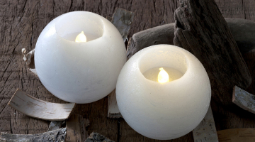 Voskové LED sviečky - 2 set
