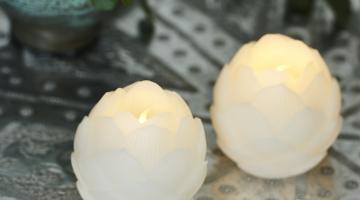 Led sviečky biele
