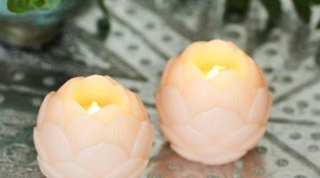 Led sviečky ružové