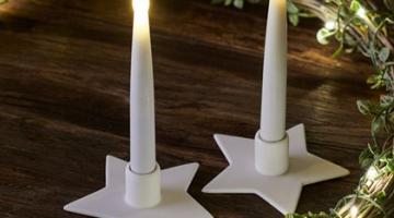 Svietniky s LED sviečkami