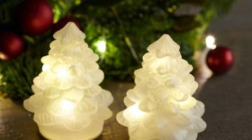 LED stromčeky Carmen White