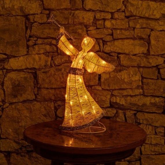 3D Svetelný anjel 50cm na batérie