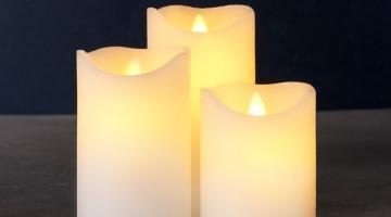 LED sviečky Exclusive 3set na diaľkové ovládanie