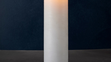 LED sviečka Exclusive 40cm x 10cm biela