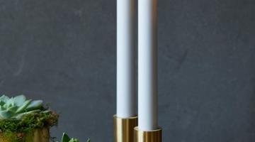 LED sviečka Sara 25cm biela