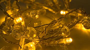 LED svetelná reťaz na batérie - kryštáliky