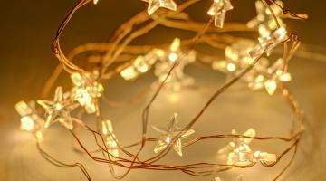 LED mini hviezdičky na batérie - 20led