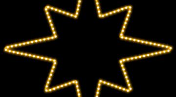 LED svetelný motív - hviezda na špici