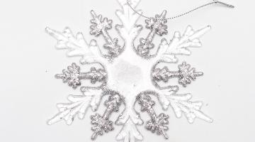 Závesná akrylová dekorácia Snehová vločka
