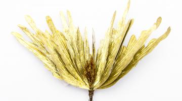Zlatý umelý kvet 29cm