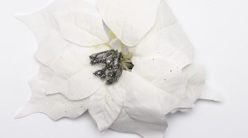Biely umelý kvet 23cm