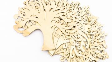 Strom - drevený výrez