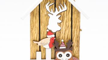 Chalúpka - drevená dekorácia