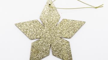 Zlatá hviezda 2D 15cm