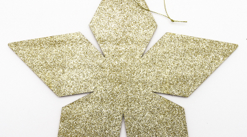 Zlatá hviezda 2D 60cm