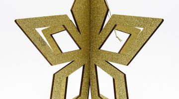 3D Zlatá hviezda 80cm