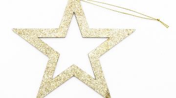 Zlatá hviezda 2D obrys 40cm