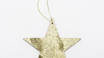 2D Zlatá hviezda plná 15cm