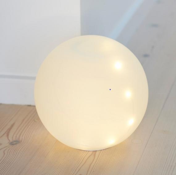 LED Guľa Odina 20cm biela matná