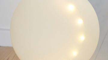 LED Guľa Odina 25cm biela matná
