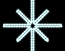 LED svetelný motív Polaris 55x45cm - ľadová biela