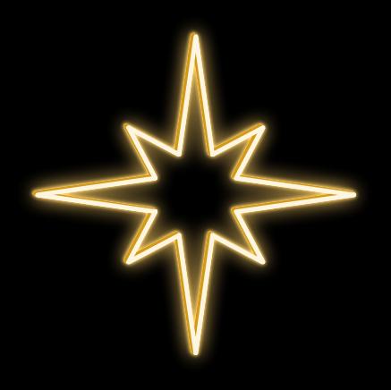 LED svetelná hviezda - výška 90cm