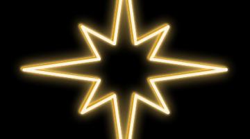 LED svetelná hviezda - výška 50cm