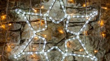 LED svetelný motív - 6 - cípa hviezda