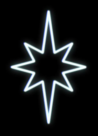 LED svetelný motív - hviezda