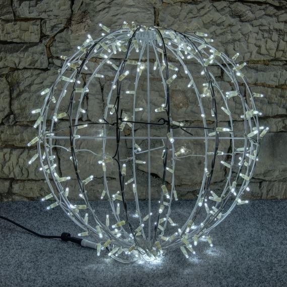 LED svetelná guľa ľadovo biela - 60cm