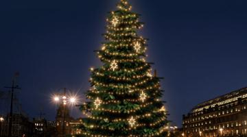 LED svetelná sada na strom 12-14m s dekormi EFD10WS2