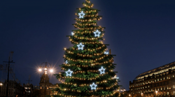 LED svetelná sada na strom 15-17m s dekormi EFD13