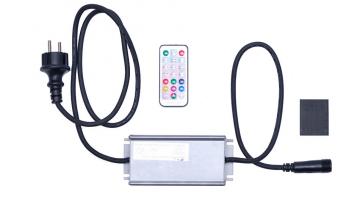 Zdrojový kábel k RGB reťazi exteriér IP67 - čierny do 4000LED
