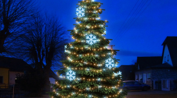 LED svetelná sada FLASH na strom 6-8m s dekormi EFD01