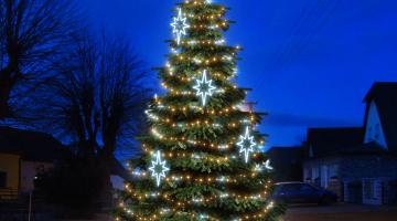 LED svetelná sada FLASH na strom 6-8m s dekormi EFD09S1