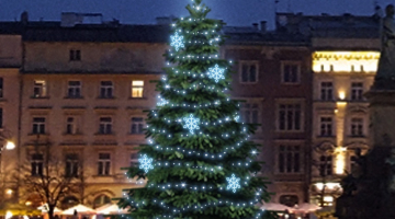 LED svetelná sada na strom 6-8m s dekormi EFD05
