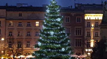 LED svetelná sada na strom 6-8m s dekormi EFD11