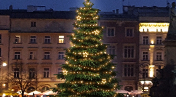 LED svetelná sada na strom 6-8m s dekormi EFD12W