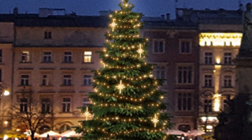 LED svetelná sada na strom 6-8m s dekormi EFD15WS2