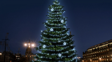 LED svetelná sada na strom 12-14m s dekormi EFD11