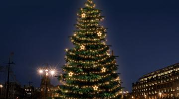 LED svetelná sada na strom 12-14m s dekormi EFD12