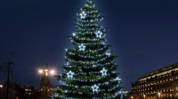 LED svetelná sada na strom 12-14m s dekormi EFD13