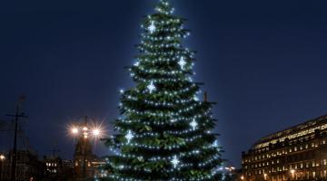 LED svetelná sada na strom 12-14m s dekormi EFD15S2