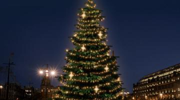 LED svetelná sada na strom 12-14m s dekormi EFD15WS2