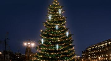 LED svetelná sada na strom 12-14m s padajúcim snehom