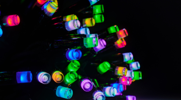 RGB LED svetelná reťaz IP67- 20m