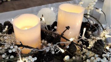 LED svetelná reťaz na batérie - biele perly