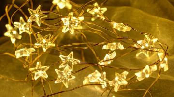 Svetelná reťaz 40LED - hviezdy