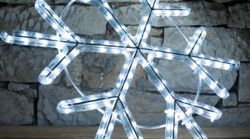 LED svetelný motív - vločka
